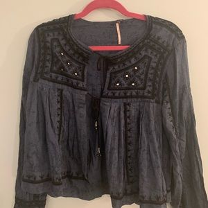 free people front-tie blouse